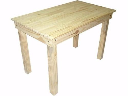 mesa de pino 1.20x0.70 patas 3x3 pulgadas desarmable fabrica