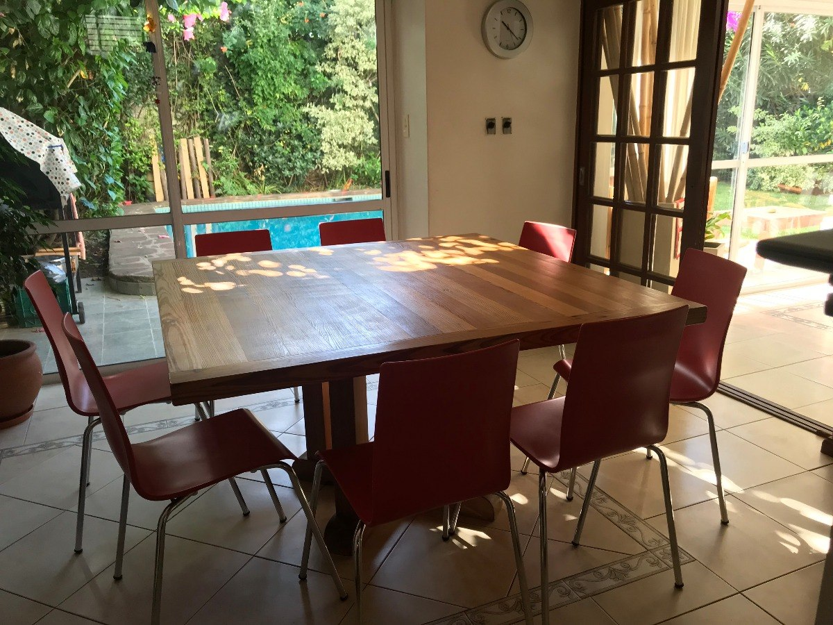 Mesa De Pinotea Cuadrada Y 8 Sillas (cocina O Quincho) - $ 27.000,00 ...