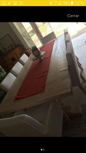 mesa de pinotea y 8sillas