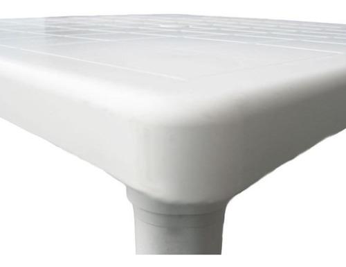 mesa de plástico con patas desmontables 80 x 80 cm