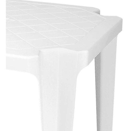 mesa de plástico monobloco branco antares