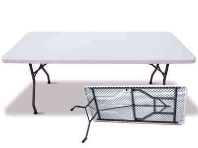 Mesa de plastico plegable de m marca officestar for Mesa plegable plastico
