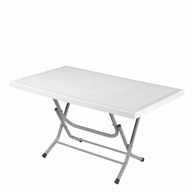Mesa de pl stico rectangular plegable 65x115 for Mesa plegable plastico