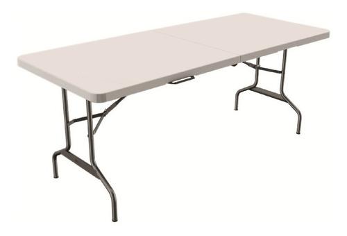 mesa de plastico verona 1.80 plegable tipo portafolio beige