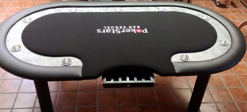 mesa de poker black sky con logotipo y fichero.