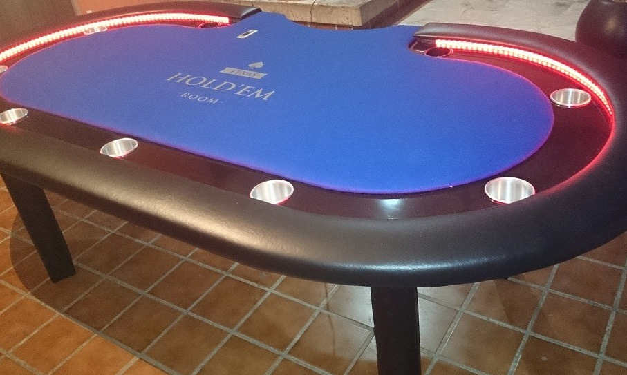 Mesa de poker con luz led 14 en mercado libre for Mesas de poker segunda mano