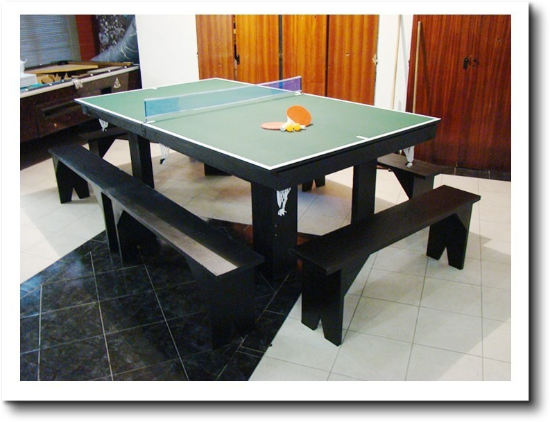 Mesa De Pool 254 Comedor Y Ping Pong + Kits + Bancos Oferta ...