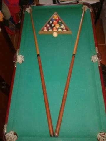 mesa de pool  edicion especial de lujo en madera pulida