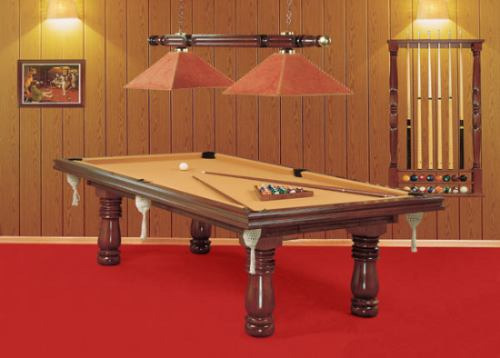 mesa de pool familiar torneadas modelo country