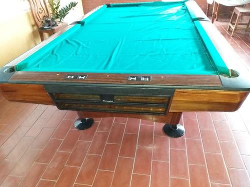 mesa de pool gold crown lll brunswick de 9 pies remato 1700
