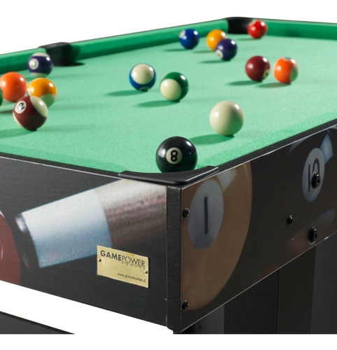 mesa de pool madera 122 x 65 x 78 cm, game power