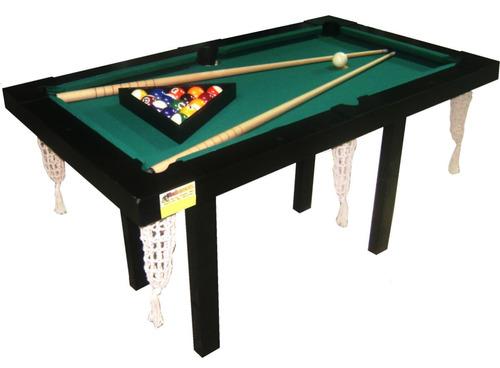 mesa de pool mini 1.40x0.80, madera mdf pintada laqueada t/c