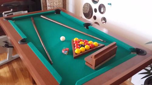 mesa de pool mini 1,44x0,84mts directo de fábrica + kit impo