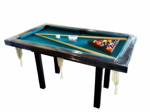 mesa de pool mini+ accesorios pool+ tapa ping pong + paletas
