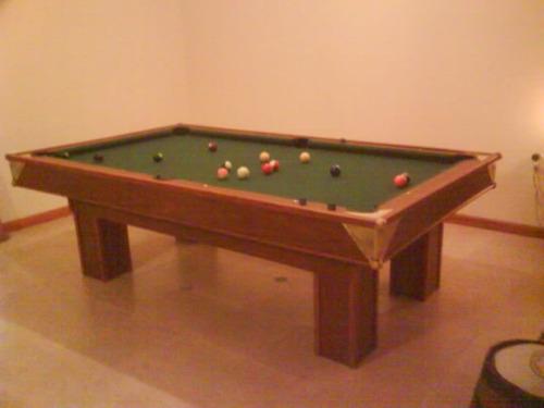 mesa de pool nueva profesional  decorativos en bronce