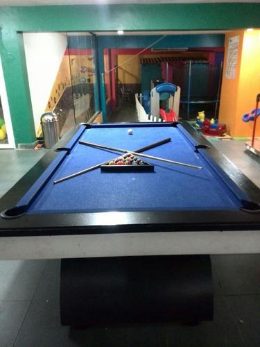 mesa de pool pin pong modelo azavache con tacos y bolas