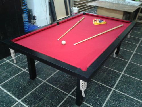 mesa de pool profesional 2.40x1,40mts mdf laqueado