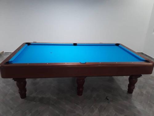 mesa de pool profesional 9 pies piedra pizarra paño simonis