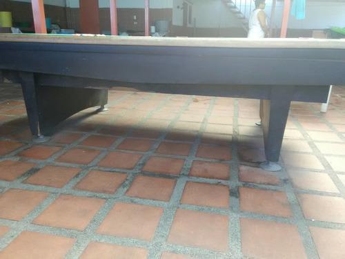 mesa de pool profesional de madera. 1.48x2.68m (1000 verds)