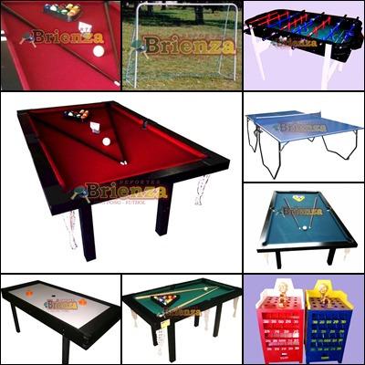 mesa de pool semiprofesional + accesorios pool + tapa p/pong