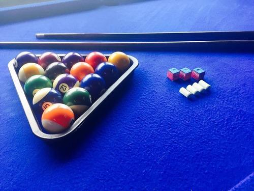 mesa de pool semiprofesional+ accesorios+tapa p/pong+paletas