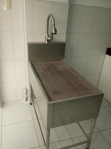 mesa de preparación tipo bañera dental