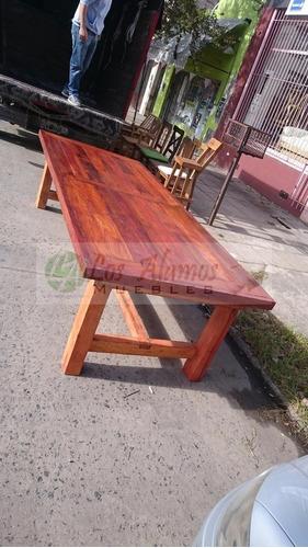 mesa de quebracho lapacho macizo 3x1.20 reforzado los alamos
