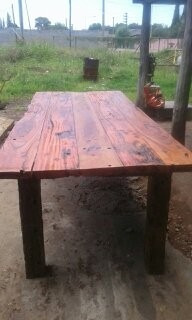 mesa de quebracho y guayubira  rústica