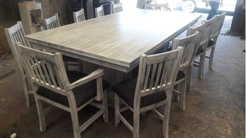 mesa de quincho 1 80x90 maciza vintage