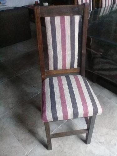 mesa de quincho 2.40 x 1.20 + 10 sillas sin tapizar