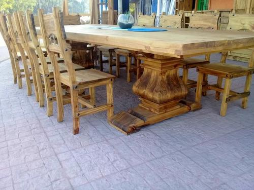 mesa de quincho pata francesa 2.70 x 1.20 muebles de tigre