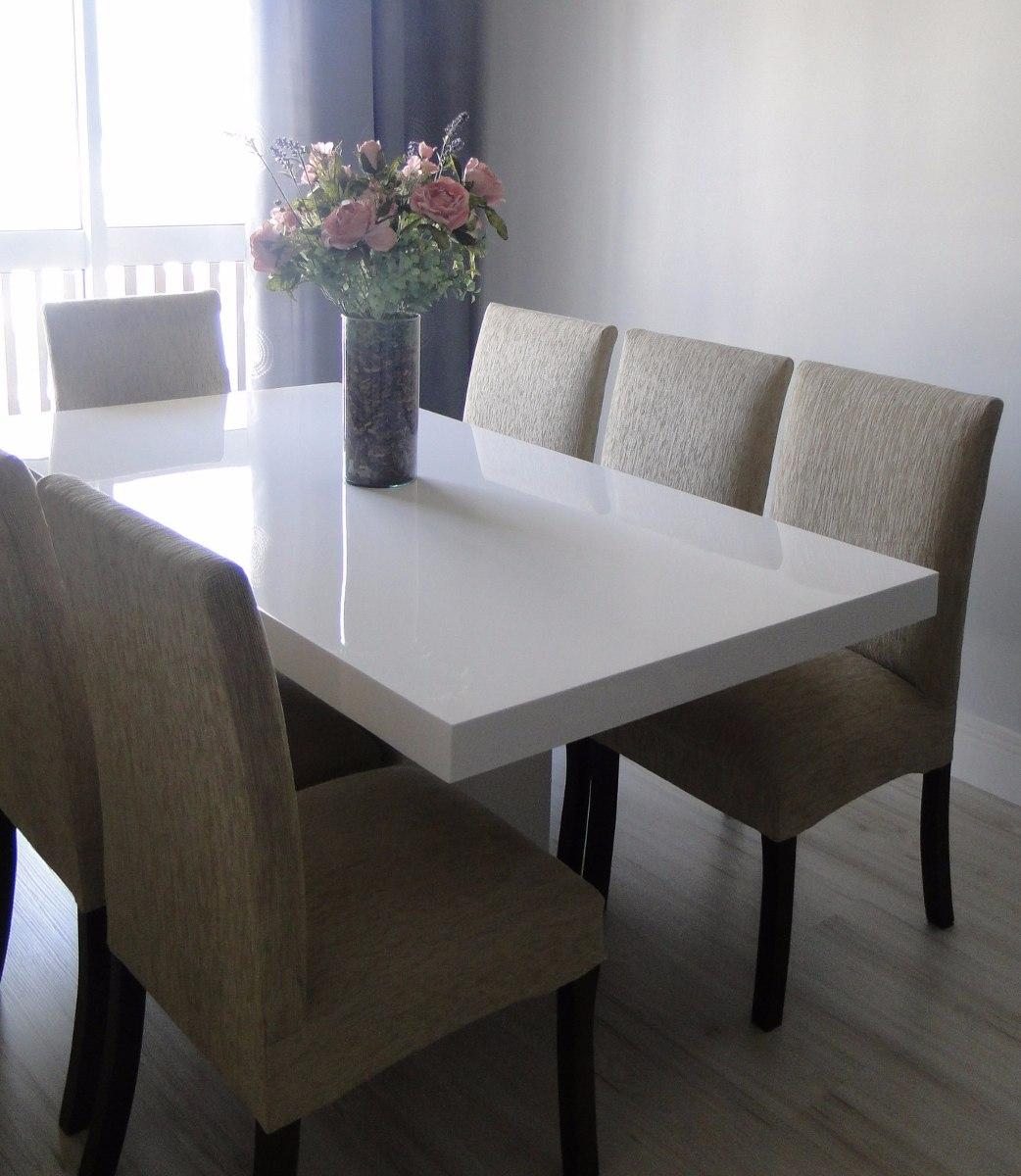 Mesa Sala De Jantar Usada ~ Mesa De Resina Branca Modelo Verona 220 X 090  R$ 2967,00 em