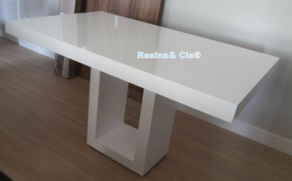 662d0f3e8 Mesa De Resina Modelo Savana 1.20 X 0.80 Cor Branca - R  1.680