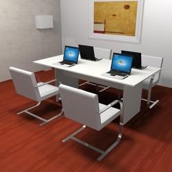 mesa de reunion blanca muebles / muebles de oficina 19