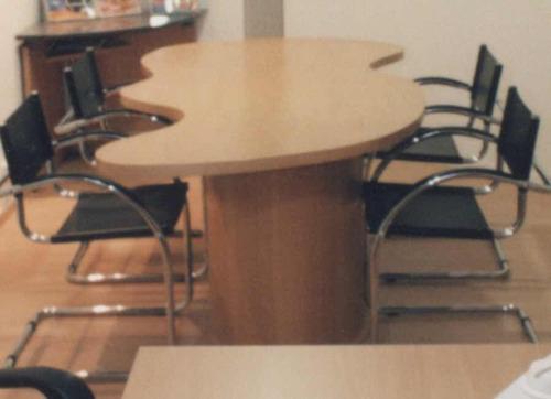 mesa de reuniones 210x105 haya diseño liquido!