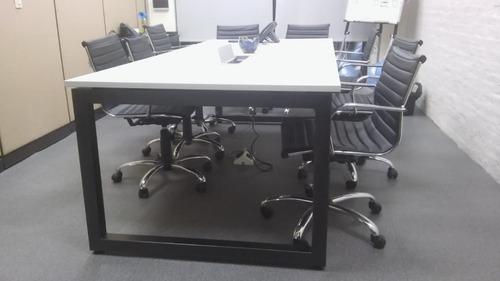 mesa de reuniones, apta conectividad redes, tensión