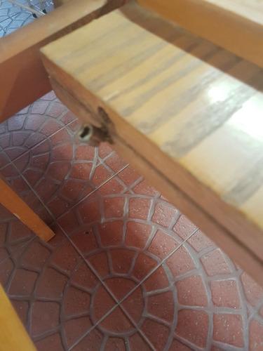 mesa de roble con formica extensible