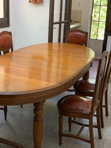 mesa de roble inglés + 6 sillas de regalo