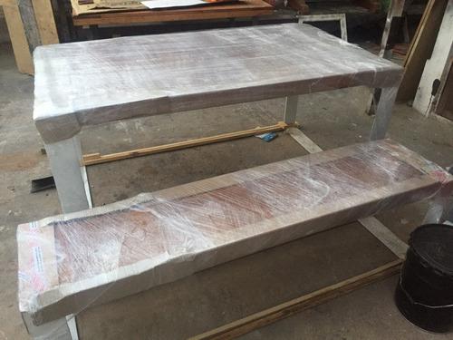 mesa de roble prefabricado