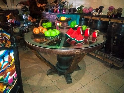 mesa de rueda de carreta