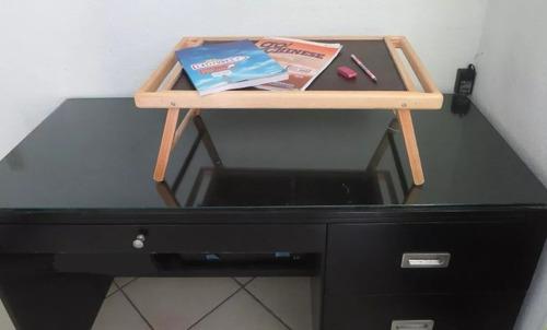 mesa de servicio para cama plegable en madera - envio gratis