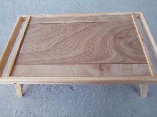 mesa de servicio para cama y laptop plegable en madera