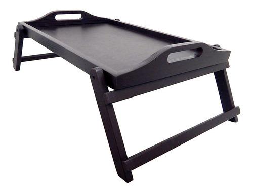 mesa de servicio plegable deluxe color chocolate - m6503