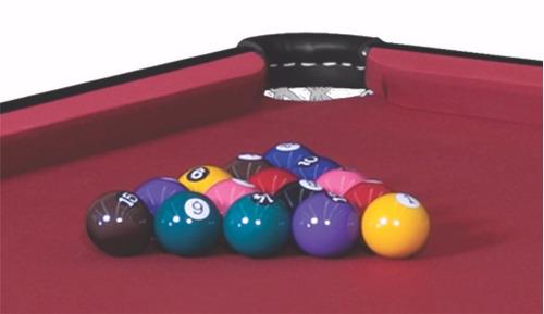 mesa de sinuca residencial elite com jogo de bolas e tacos