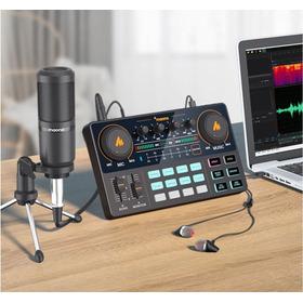 Mesa De Som + Mic P/ Podcast Maonocaster Am200 S1
