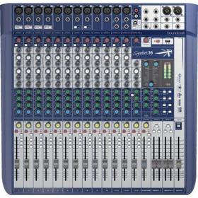 Mesa De Som 10 Canais Signature 10 Azul Soundcraft