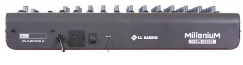 mesa de som 12 canais ll audio millenium m1202d