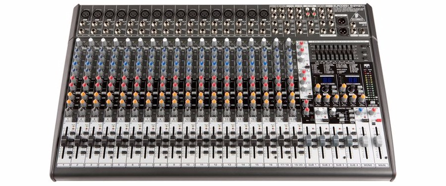 Mesa de som 24 canais 4busmixer eurodesk sx2442fx for Mesas behringer