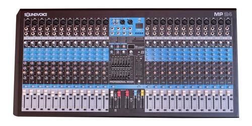 mesa de som 24 ch xlr usb efeitos 2 auxiliares - soundvoice