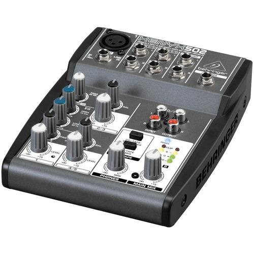 mesa de som 5 ch c/ 1 auxiliar - xenyx 502 behringer